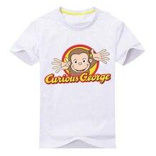 Bongawan мальчиков футболка для Дети мультфильм Любопытный Джордж Active мультфильм футболка для вечерние и повседневная детская одежда