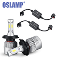 72w/Pair 8000lm Hi-lo Beam H4 H13 COB Chips LED Headlight Bulb H7 9005 HB3 9006 HB4 H11 H9 LED Lamp Bulb Free Error Canbus 12V
