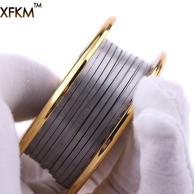 XFKM 5 M/Roll SS316L Clapton Alien Filo di Alta Qualità Filo di Riscaldamento Per Sigaretta Elettronica RTA RDA Atomizzatore FAI DA TE bobine Strumento