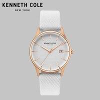 Kenneth Cole оригинальные кварцевые женские часы KC15109001 телесная кожа водостойкие простые Роскошные Брендовые женские часы