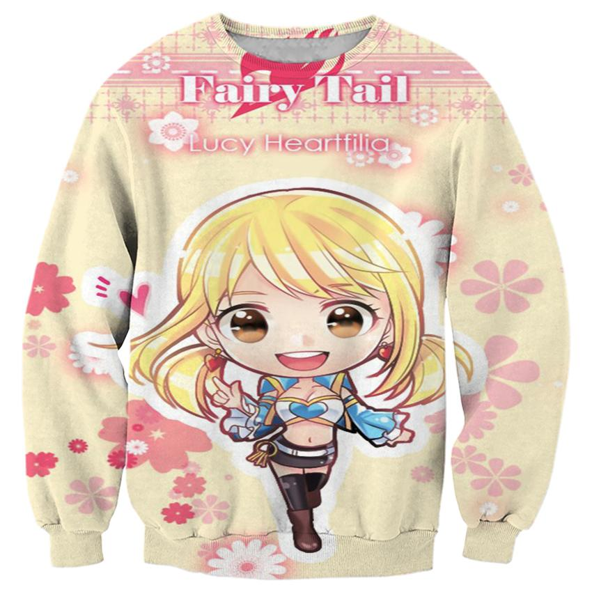 2018 NEW FASHION MEN and WOMEN Fairy Tail girl Pink 3D Print Sweat shirts Pullovers Tracksuit Streetwear Loose Thin Hoody Tops