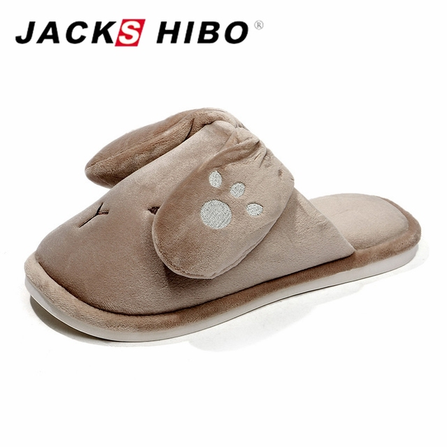 371ace8cb JACKSHIBO Mens House Slippers Cute Dog Design Men Winter Slippers Warm Home  Male Slipper Slipon Home Shoes Sandalias Hombre