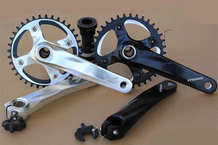 bicycle chain wheel 34T/36T bicycle sprocket montanha bike crank wheel mtb bike cranks alloy crankset 170MM west biking bike chain wheel 39 53t bicycle crank 170 175mm fit speed 9 mtb road bike cycling bicycle crank