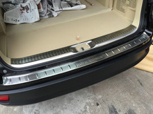 For Toyota Highlander 2014 2015 2016 Stainless Steel Inside & Outside Rear Bumper Sill Protector Trim