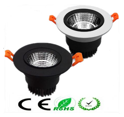 1pcs 9w 12w 15w round Recessed cob led ceiling lamp Dimmable 220v 110v Warm /Natur/Cold White Epistar Led downlights Spot light
