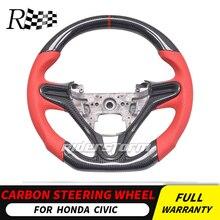 Для Honda civic 8th 9th 10th gen genneration углеродное волокно руль для универсальной замены кнопки управления рулевое колесо