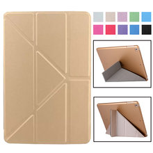 Smart Cover For iPad Mini4 Ultra Slim PU Leather Case + PC translucent back case for Apple ipad Mini 4 3 2 1 7.9 inch(China)