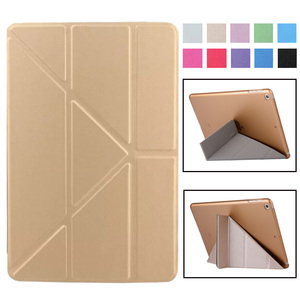 Smart Cover For iPad Mini4 Ultra Slim PU Leather Case + PC translucent back case for Apple ipad Mini 4 3 2 1 7.9 inch(China)