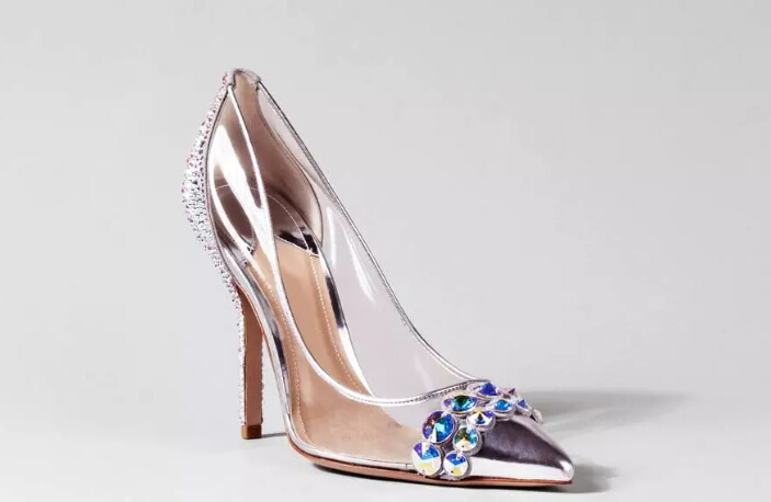 65ecc63cd5d185 newest cinderella primiere stunning glasses shoes silver crystal wedding  pumps high heel jeweled glittering shoes -in Women s Pumps from Shoes on ...