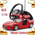 Presente de Ano novo 1/14 Mercedes SLS AMG Roda RC Remoto controle Do Carro Modelo de Carro de Drift Máquina Edição Coletiva Do Carro Ao Ar Livre presente