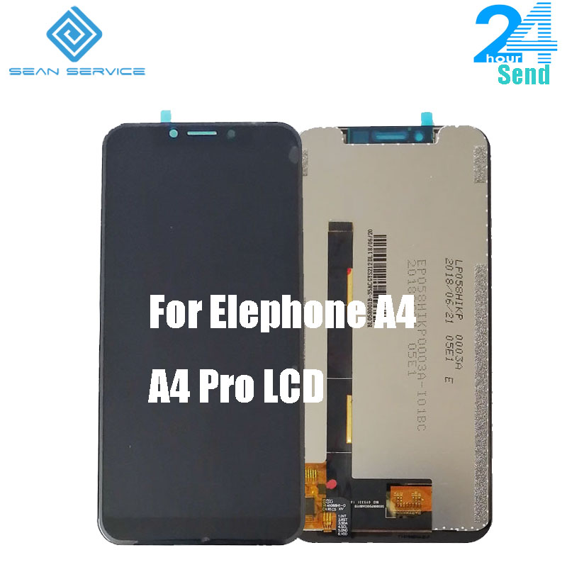 5.85 inch For Original Elephone A4 / A4 Pro LCD Display +Touch Screen Digitizer Assembly Panel Digital Replacemen Android 8.1
