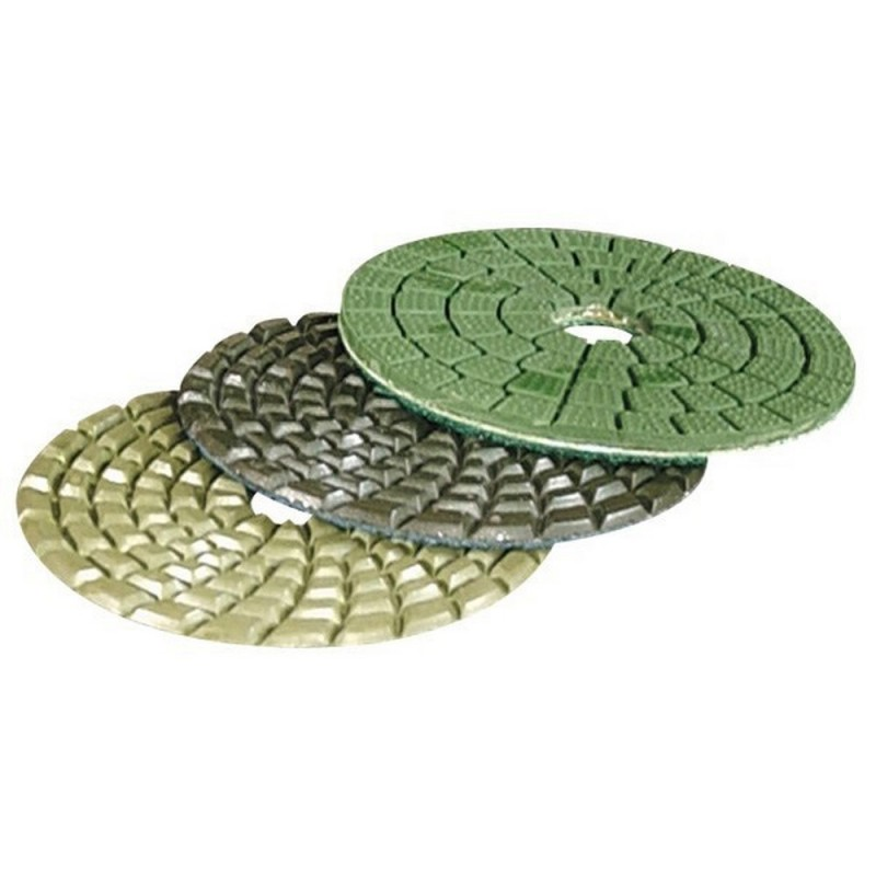 MAKITA D 15659 buff from Diamond Disc 100mm for Stone fixation by Velcro grained skin green color|Power Tool Accessories| |  - title=