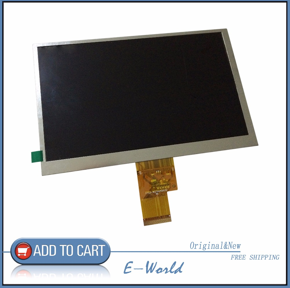 Original and New 7inch 40pin LCD screen FPC3-WS70049AV0 for tablet pc free shipping