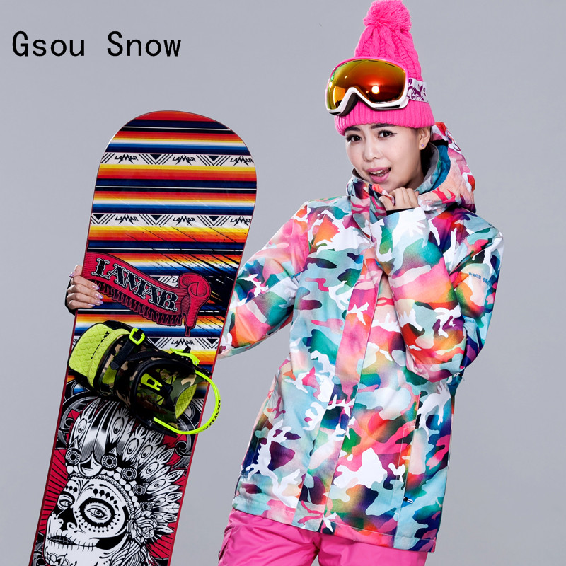 Women Gsou Snow Band Windproof Waterproof Skiing Snowboard Outdoor Sport Wear Camping Riding Female Thicken Thermal Warm Coat free shipping 7inch round headlight 75w h4 motorcycle round led headlamp daymaker hi low beam head light bulb drl for offroad