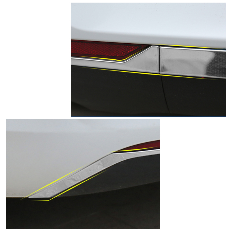 Lsrtw2017 Silver Titanium Car Rear Bumper Anti collision Strip for Buick Regal Opel Insignia 2018 2019 2020 in Interior Mouldings from Automobiles Motorcycles