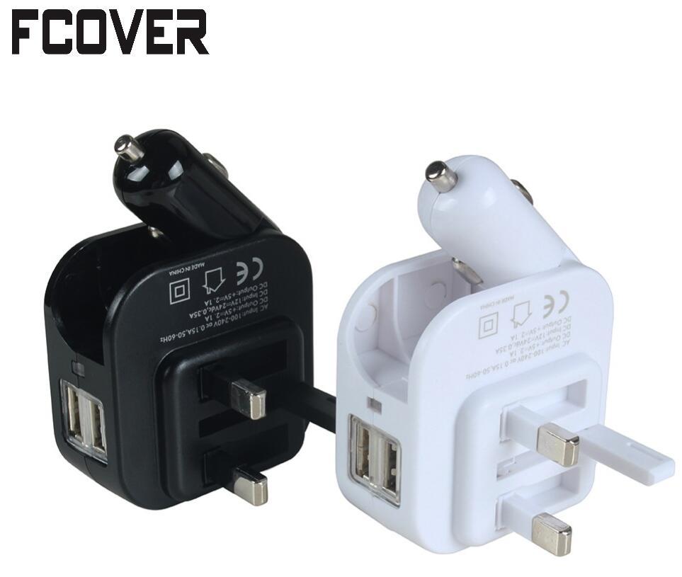 Adapter Car charger Dual USB Port 5V 1A 2.1A Universal Home Travel Car Charger Mobile Phone EU Plug
