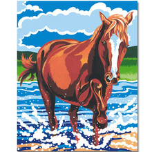 WEEN Framed Wall Pictures, DIY Oil Painting By Numbers kit, Acrylic Paint,Oil Canvas Paintings,Home Decor 40x50cm-Brown horse