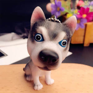 Doll Keychains Pendant Husky-Toys Key-Rings Women Bag Gift Cartoon Cute Expression