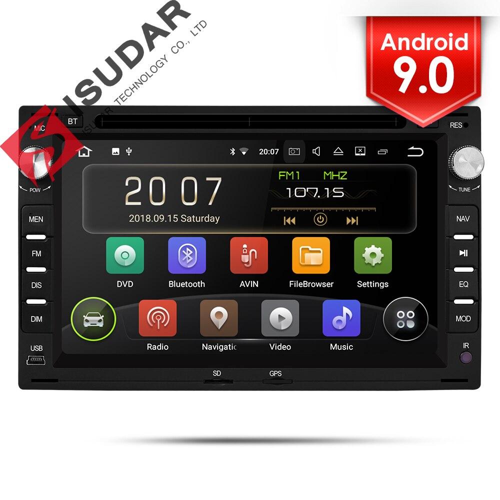 Isudar 2 Din Android 9 Car Radio For VW/Volkswagen/GOLF/POLO/TRANSPORTER/Passat b5 Auto Multimedia DVD Video Player GPS DVR FM