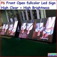 P6 открытый перечисляя знак 192 см x 96 см, 75.6 x 37.8, спереди Открыть знак, SMD высокой яркие, высокая, p5, P8, P10