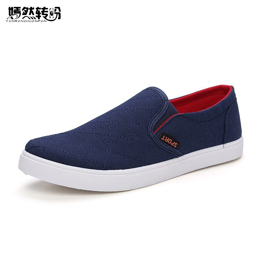 Summer Style Fashion Men Canvas Shoes Men Casual Shoes Flats Comfortable Breathable Loafers Men Flats Shoes Blue Zapatos Hombre 2016 men shoes summer breathable male casual shoes fashion chaussure homme soft zapatos hombre summer flats men shoes