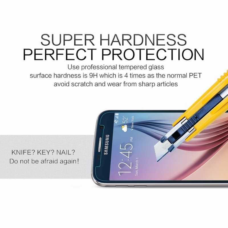 2 ชิ้น/ล็อตกระจกนิรภัยป้องกันหน้าจอสำหรับ Samsung Galaxy S7 S6 S5 A7 A5 A3 2017 2016 2015 A520 A320 a720 ระเบิดฟิล์มหลักฐาน