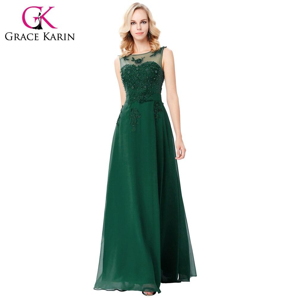 Grace Karin Strapless Peacock Evening Dress Long Chiffon Embroidery ...