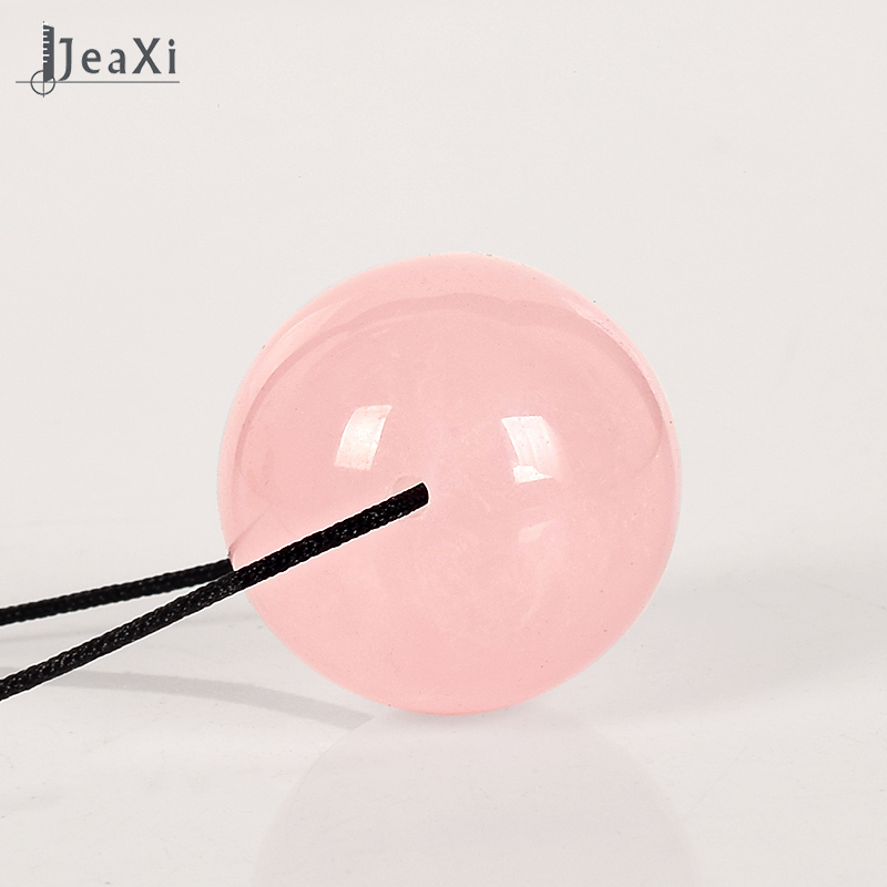 Drill Crystal Sphere 25 mm Natural Rose Quartz Massager Balls beads Healing yoni egg Reiki  Kegel Exercise Ben Wa Ball 2pcs lot natural massage jade stone hand ball rolling exercise meditation stress relief fitness health healing reiki balls