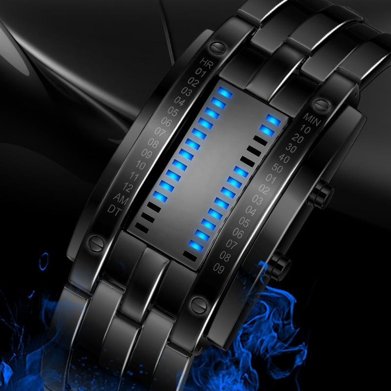Skmei, популярные мужские модные креативные часы, цифровой светодиодный дисплей, водонепроницаемые ударопрочные наручные часы Lover'S, мужские ч...