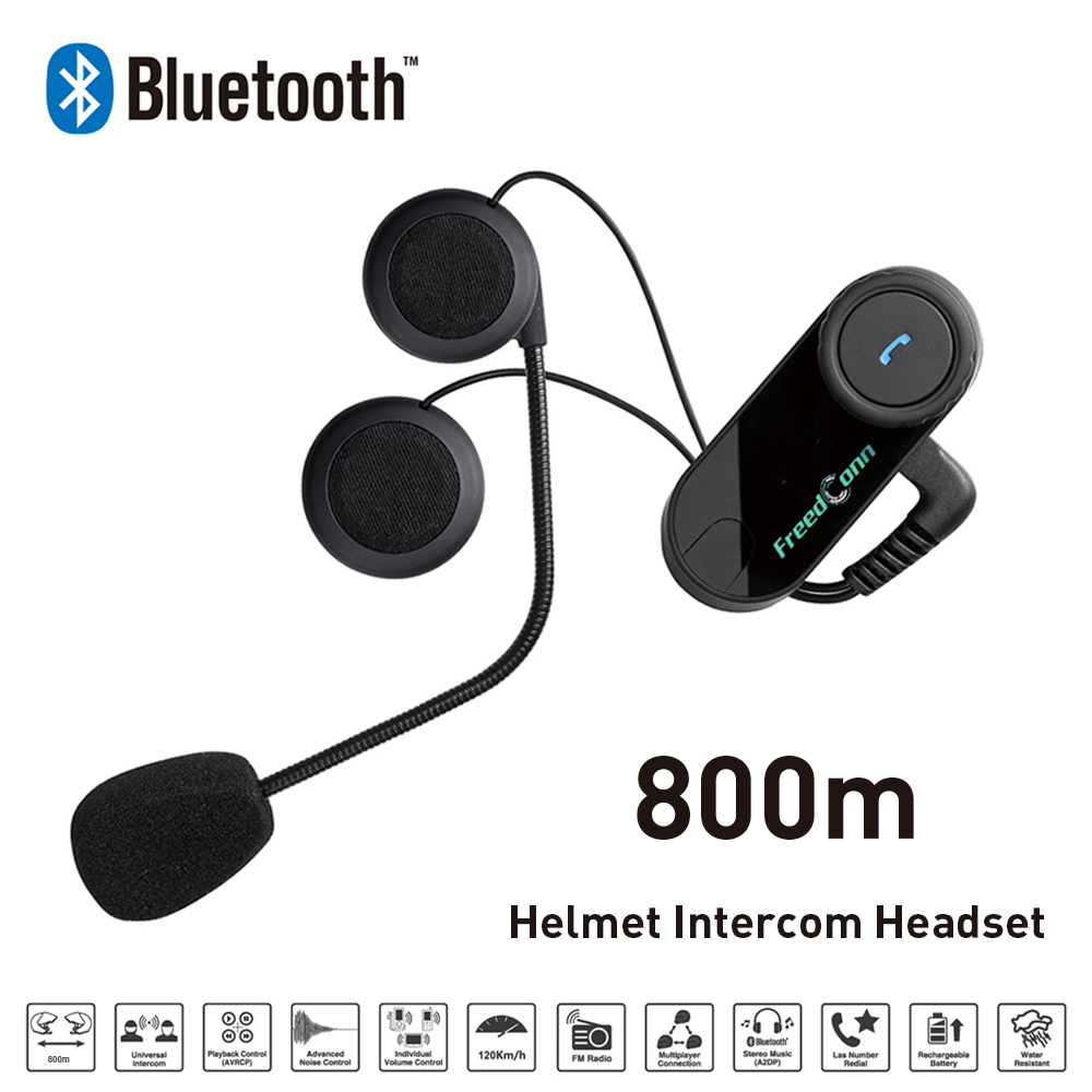 freedconn helmet headset bluetooth intercom for motorcycle motorcycle helmet intercom interphone. Black Bedroom Furniture Sets. Home Design Ideas