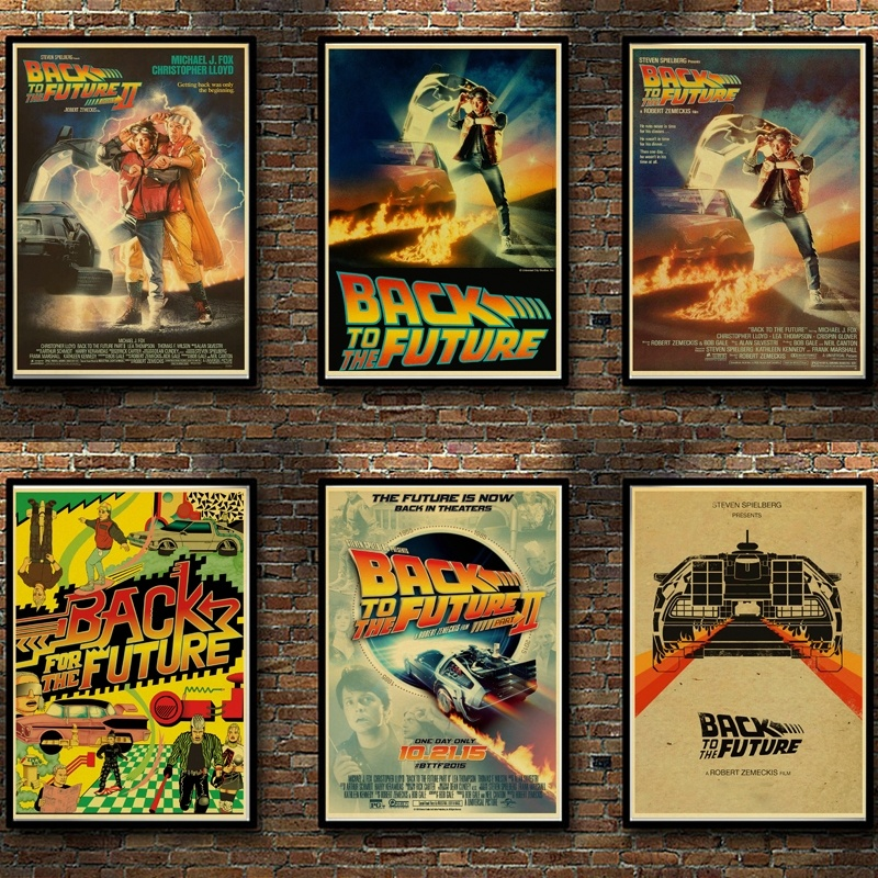 Classic Movie Award Back To The Future Retro Vintage Poster Kraft Paper Wall Stickers For Home Living Room Bar Decoration