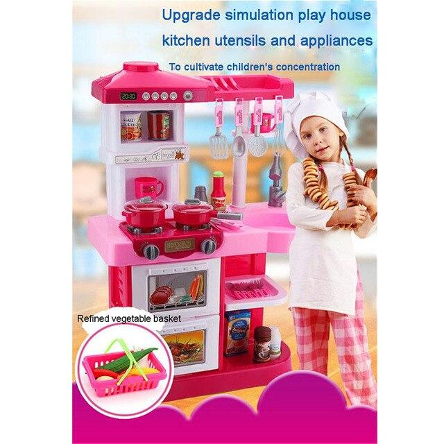 큰 어린이 장난감 주방 용품 여자 아이 가구 세트 플레이 부엌 ...