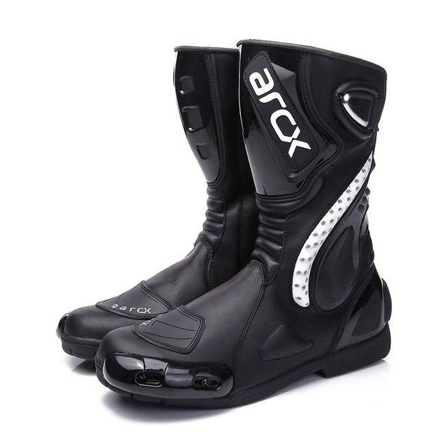 ARCX Motorcycle Boots Motocross Boots Men Waterproof Moto Boots Motorbike Riding Boots Black Botas Moto Motorcycle Shoes 3