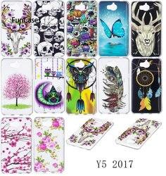 Светящиеся чехлы для телефонов HUAWEI Y6 2017 MYA-L11 MYA-L41 16GB TPU силиконовый глянцевый IMD Чехлы для HUAWEI Nova Young Y6 (2017)