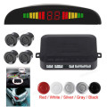 1 Conjunto de 5 Cores Universal Car Auto Kit Sensores de Estacionamento Sistema de Display LED 4 Sensores de Assistência Radar Do Reverso Do Carro Monitor