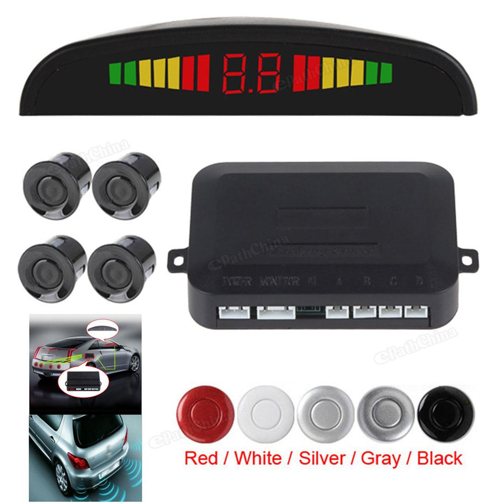Digital LED Display font b Car b font Parking Sensor System Distance Detector Reverse Radar with