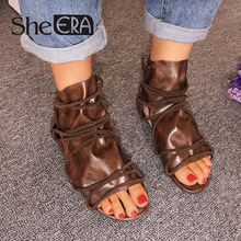 She ERA Women Gladiator Sandals Cross-tied Flat Cool Summer Casual Shoes Heel