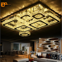 Free Shipping Novelty Design Crystal LED Chandelier Modern Living Room Lights Chrome Finish LED Light Fixtures