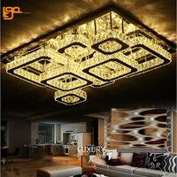 Free Shipping Novelty Design Crystal LED Chandelier Modern Living Room Lights Chrome Finish LED Light Fixtures