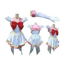 Anime Sailor moon Crystal Cosplay Costume Women Halloween Custom Sailor Chibi Mercury Moon Mars Dress Clothing Free Shipping