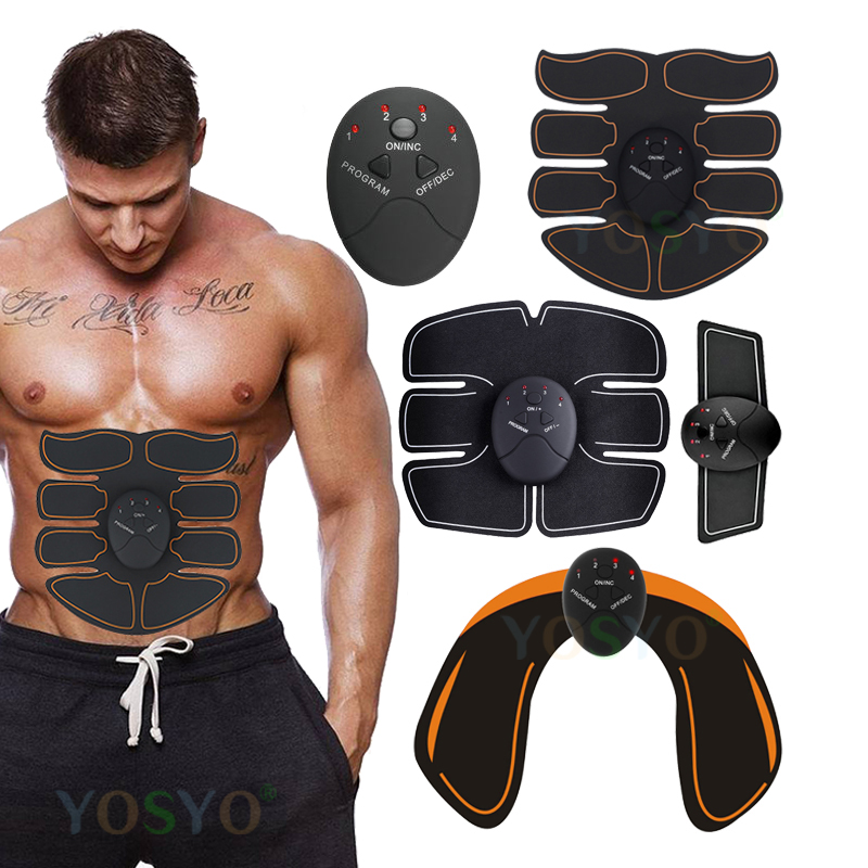EMS Muscle Stimulator Massager Trainer ABS Stimulator Wireless Smart Fitness Abdominal Buttocks Body Shaping WITHOUT RETAIL BOX