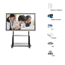 Education 32inch monitor touch screen pc tv all in one with built-in pc I7 3540M Dual-core smart interactive led board