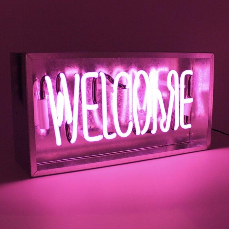 Enseigne au néon Led barre lumineuse café boutique décoration fête de noël décoration de mariage plusieurs couleurs bienvenue baisers Led enseigne au néon