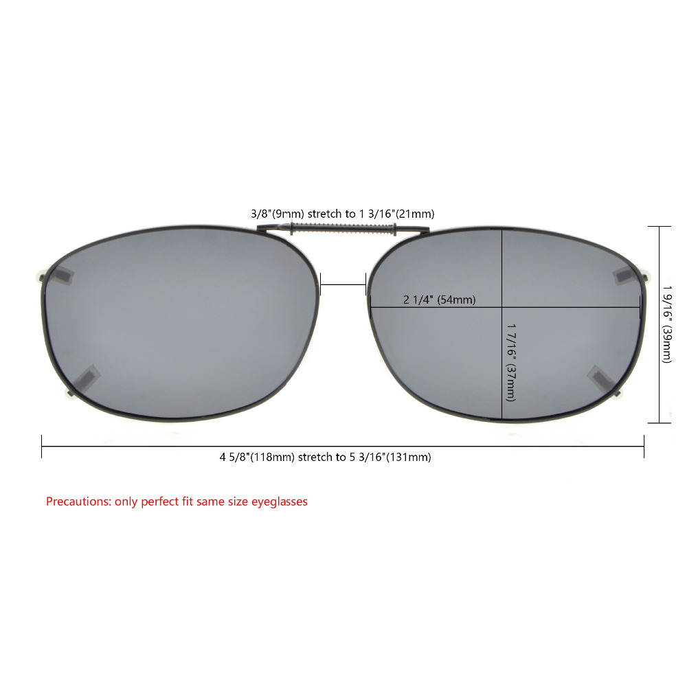 3f9ac49d1f6 C89 Eyekepper Grey Brown G15 Lens 3 pack Clip on Polarized Sunglasses  54x37MM -in Sunglasses from Apparel Accessories on Aliexpress.com