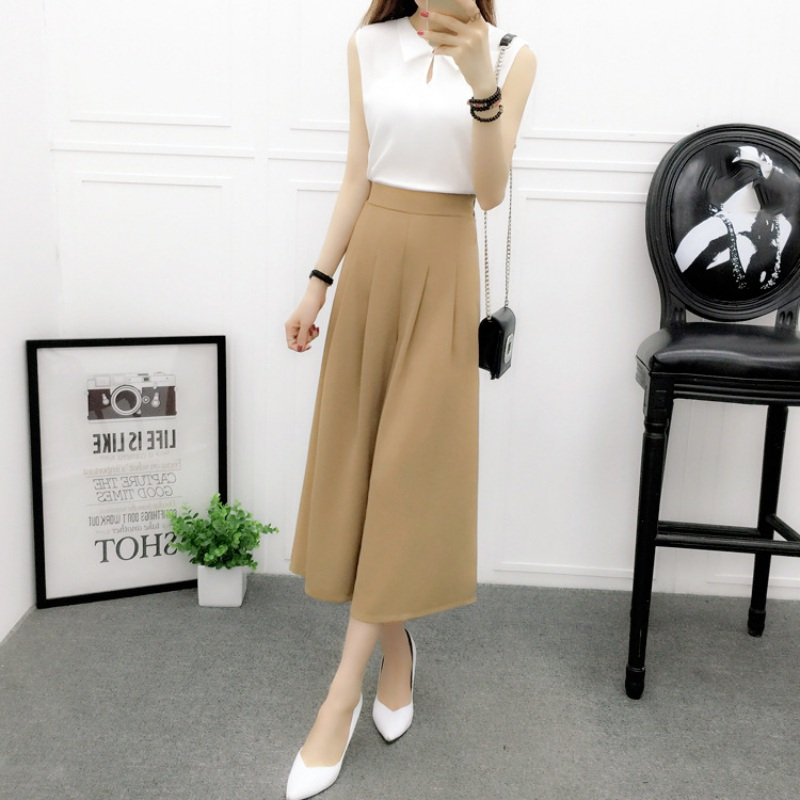 Women   Pants   Slim Slender Cotton Chiffon Loose High Waist   Wide     Leg     Pants