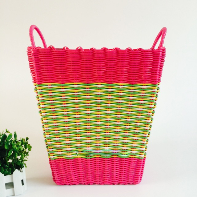 Fashion Plastic Dirty CLothes Basket Toy Storage Basket With Plastic Woven  Hamper Laundry Storage Basket Bathroom Washing Bag In Storage Baskets From  Home ...