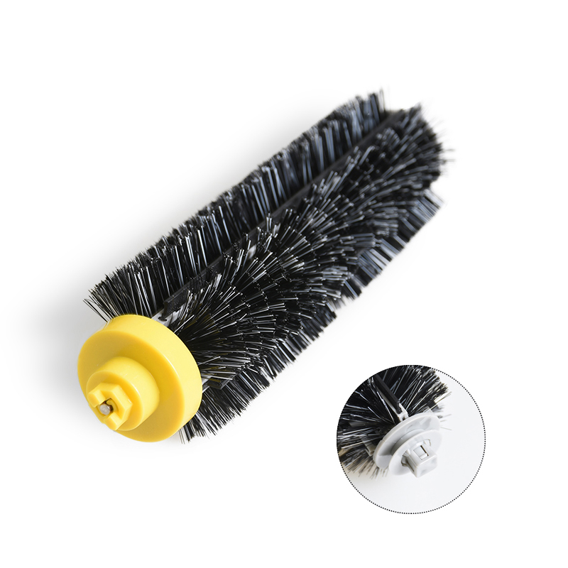 Black Bristle Brush Replacement For iRobot Roomba 600 700 Series 650 620 630 660 760 770 780 790 Vacuum Cleaner Spare Parts 1PC 14pcs free post new side brush filter 3 armed kit for irobot roomba vacuum 500 series clean tool flexible bristle beater brush