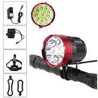 8.4V 10xCREE XM T6 LED 20000 lumens cycling Bike Bicycle Light Headlight Handlamp with 8800mah 18650 Battery Pack Charger
