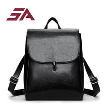 SA Bags for women 2018 Fashionable School Teenage girls Youth Leather Backpacks  Female Shoulder Bag mochila