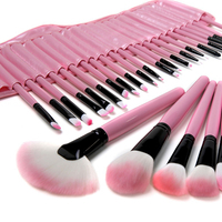 Professional 32 Pcs Pink Black Make Up Tools Professional Cosmetic Makeup Brush Set Kit With Fashion